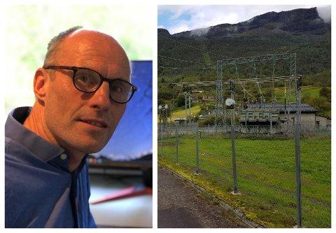 NY: Statnett meiner den gamle transformatorstasjonen i Fortun er utdatert, og planlegg no å byggja ny. Morten Hellum er prosjektleiar.