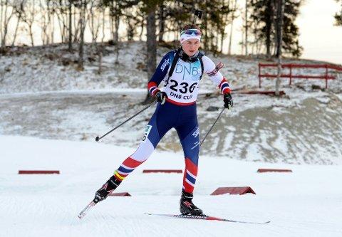 Guro Seline Herfoss imponerte og tok NM-gull i Os i Østerdalen. Her fra et norgescuprenn tidligere i sesongen.