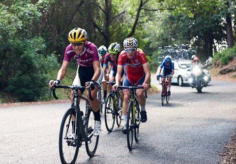 IMPONERTE: Mathias Skretteberg kjørte inn til en imponerende 14. plass sammenlagt i Giro della Lunigiana i Italia i helga. 18-åringen tviler imidlertid på om han klarer å komme med på det norske VM-laget. foto: privat