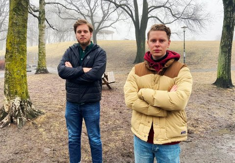 Å HJELPE ER DET VIKTIGSTE: De unge politikerne Fredrik Halsen og Fredrik Sørlie mener hjelp er viktigere enn straff når det gjelder rus og narkotika.