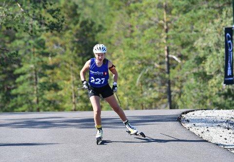 RASK: Agnes Maria Edvardsen fra Tinn gjorde sine saker bra i helga, og vant blant annet sprinten på lørdag.