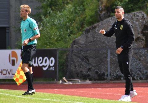 SPENT: Egersunds trener, Ojan Bijan, er spent før oppgjøret mot Notodden på lørdag. Treneren er klar for å slå tilbake etter et 4-1-tap mot Vard Haugesund i serieåpningen.