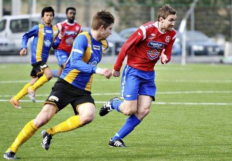 Stig Roar Søbstad ble tremålsscorer for Eide/Omegn i 4-1-seieren borte mot Træff 2. Arkivfoto: Trygve Strand Joakimsen