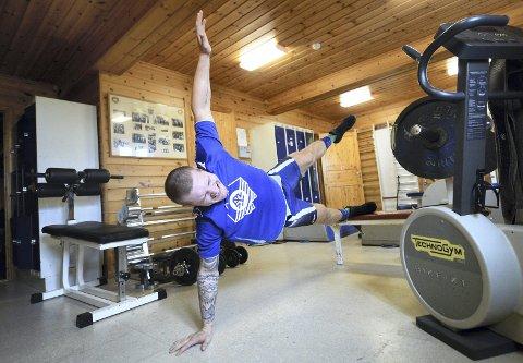 Må trene annerledes: En skade i skuldra gjør at Felix Baldauf ikke kan bryte. Det betyr masse trening på egen hånd.