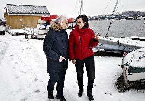 Ildsjeler: Sverre Pettersen og Kristin Marie Hestetun jobber for seilsporten i Kristiansund.