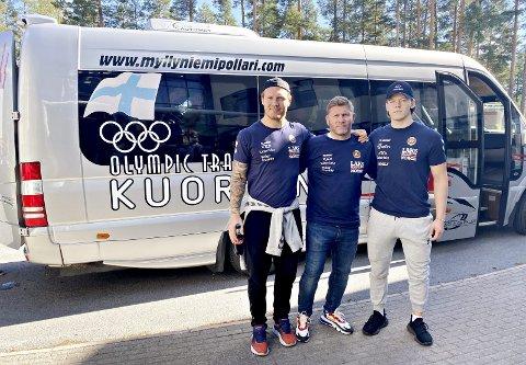 Trente i Finland: Felix Baldauf (fra venstre), Eren Gjægtvik, Magnus Grønvik og de beste norske bryterne fikk verdifull sparring i Finland, men det er fortsatt usikkert om det blir arrangert stevner i år.
