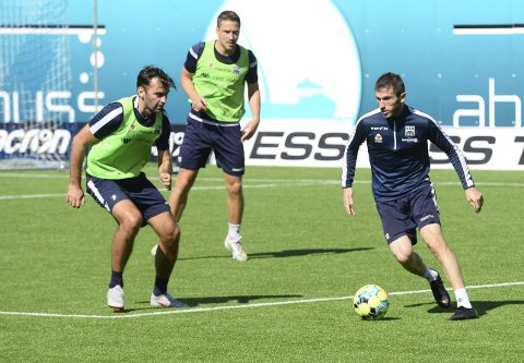 En fotballmann: Magne Hoseth (til venstre) gikk rett fra å være spiller til å bli trener. Liridon Kalludra (til høyre) har en ambisjon om å gjøre det samme. I sommer skal han ta Uefa B-lisens. Det er trinn to av fire på Uefas trenerstige.
