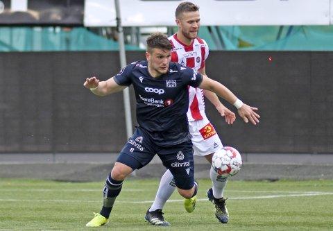 Snart uten kontrakt: Flamur Kastratis kontrakt med KBK går ut 31. august. Alternativene for spissen er enten ny avtale med nordmørsklubben eller overgang til en annen klubb.
