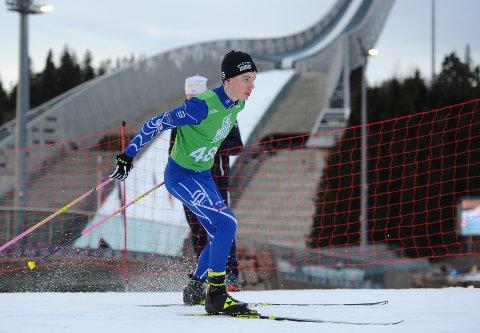 Nummer åtte: Martin Jørstad Ringli fosset inn til en sterk åttendeplass på åpningsdagen av Hovedlandsrennet på ski i Nybygda.