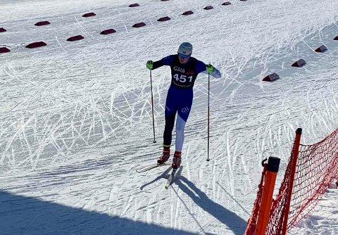 TRIUMFERTE: Fredrik Johnsen, her fra et tidligere renn, tok sesongens første seier på Bortelid lørdag.