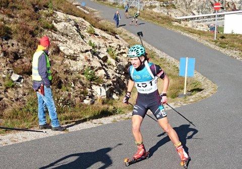 TRENER HARDT: Her ser vi Mattias Stakkeland i sommer-NM på Gautefall i fjor.