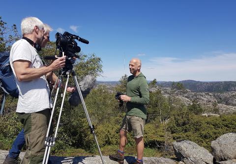 FILMER: Her intervjues Per Øyvind Grimsby på Skorveheia.