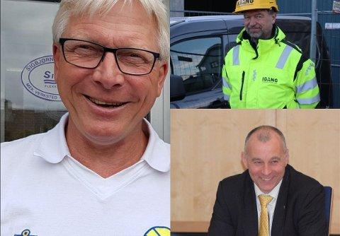 Øyvind Iversen (62), Frank Tommy Strømland (57) og Inge Hedenstad Stangeland (49) er tre av de fem søkerne til stillingen som prosjektleder for industriutvikling i Lervika.