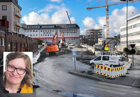 Bodø har i lang tid skiftet utgamle van- og kloakkrør, her fra grqvingen i Bankgata.
