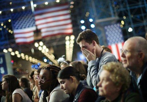 Dårlig stemning hos Demokratens valgvake i New York.