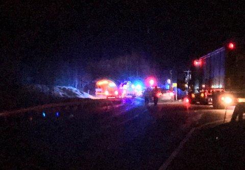 13 personer ble sendt til sykehus etter brannen i tunnelen natt til tirsdag.