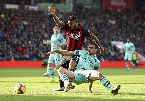 Bournemouth og Joshua King (t.v.) skal være i stand til å kjøre over et bortesvakt Brighton-lag. (John Walton/PA via AP)