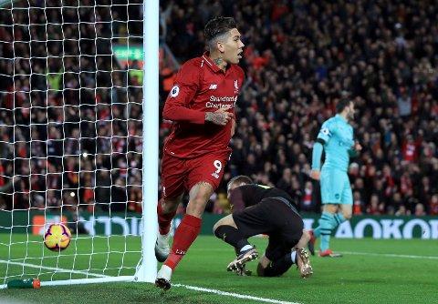 Roberto Firmino har vært involvert i seks mål på de syv siste kampene mot City. Vi tror han kan lage trøbbel for de lyseblå på torsdag. (Peter Byrne/PA via AP)