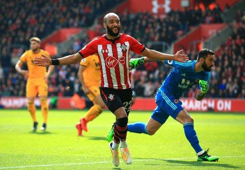 Southampton og Nathan Redmondgår på banen for å sikre plassen i Premier League i dag. (Mark Kerton/PA via AP)