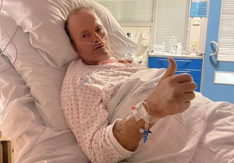 GLAD FOR AT HAN OVERLEVDE: I 17 dager lå Terje Leer i respirator og i 16 av dem i kunstig koma. Det kunne gått skikkelig dårlig.