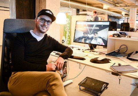 DJ-APP: Dag Langfoss-Håland er en av tre som eier og utvikler appen Vibble. Idag får de sammen med Neue Design Studio DOGA-merket 2017 for appen.