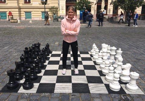 KLAR FOR SLUTTSPILL: Veronica Kristiansen er klar for å spille for Champions League-tittelen i håndball i Budapest denne helga.