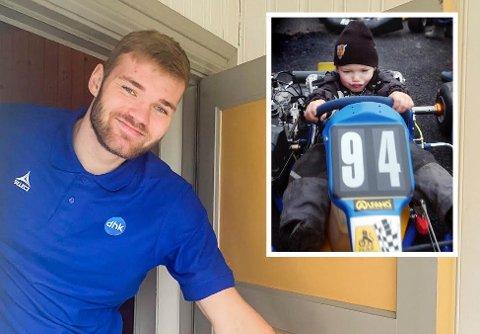 ENERGIBUNT: DHK-keeper Sander Drange Heieren ga i barnehagen som 4-åring (lille bildet) uttrykk for at han ville bli verdensmester i rally som Petter Solberg.
