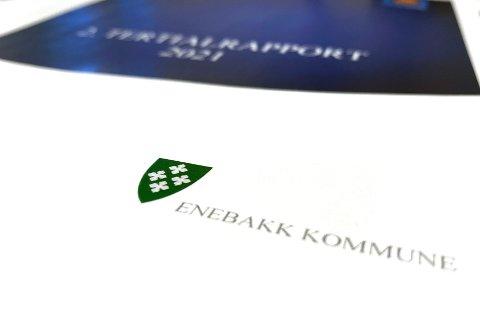Etter åtte måneder ligger Enebakk kommune an til et merforbruk i avdelingene på over 27 millioner kroner.  16,6 millioner er merutgifter knyttet til korona.