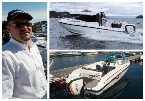 Leif Eirik Larsen satsar på Sting og Evinrude E-TEC motorar i stor grad.