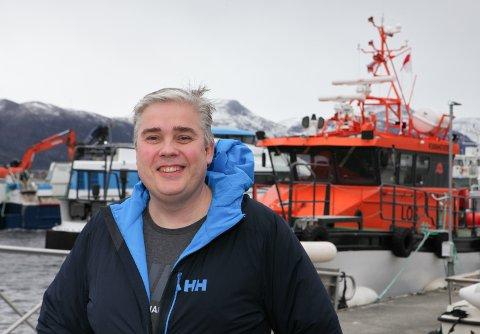 REIAR: Paal Skorpen på kaia i Florø, der Florø Skyssbåt har base.