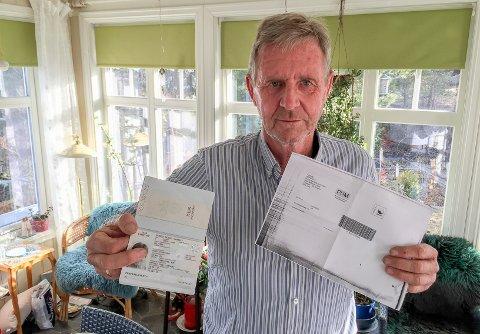 Aksepterte ikke passet: Sverre Heltvedt er oppgitt over at kona ikke fikk utlevert sin postpakke fordi scaningsmaskinen avviste hennes nesten nye pass.
