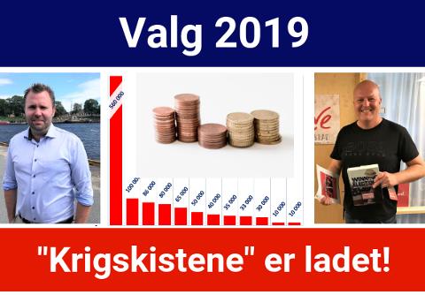 TOPP TO: Høyres Arne Sekkelsten (t. v.) og Arbeiderpartiets Victor Kristiansen styrer sine respektive partiers pengesekk.