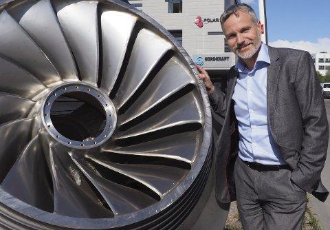 PÅ TOPP: Nordkraft-direktør Eirik Frantzen har all grunn til å smile. Selskapet han leder, troner på resultattoppen i 2018. Arkivfoto: Terje Næsje