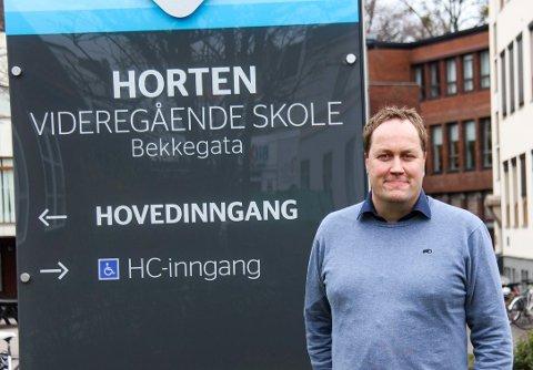 ÅPEN: Rektor Gisle Birkeland sendte onsdag ut en melding til alle ansatte ved Horten videregående skole om at han har søkt stillingen som utdanningsdirektør i Vestfold.