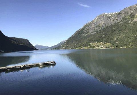 Sognefjorden: Utsikt fra Skjolden brygge. Foto: Anne Grethe Øiseth.