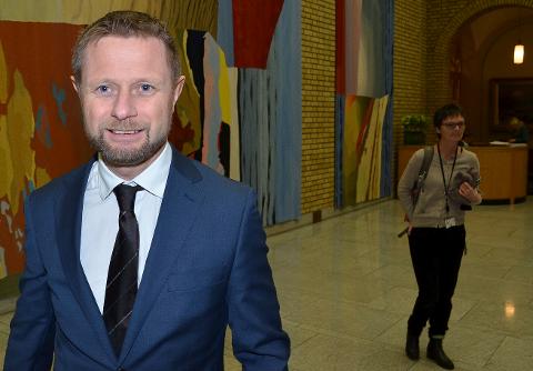 SYKEHUSLØSNING: Helse- og omsorgsminister Bent Høie (H) presenterte tirsdag den framtidige sykehusstrukturen i Innlandet.