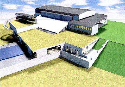 Denne skissen viser hvordan Jorekstad ser for seg at en utvidelse av anlegget kan bli seende ut.