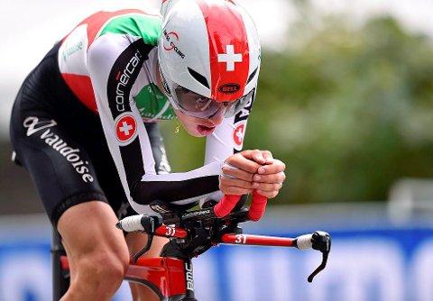 STORT TALENT: Gino Mäder (21) fra Sveits, skal sykle å samme lag som Edvald og Rasmus i 2019. Bildet er hentet fra nettstedet procycling.no.