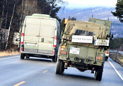 Trident Juncture varer til 23. november og skaper mye militær trafikk langs vegene.