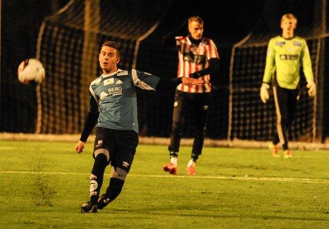 Rinor Topallaj, med erfaring fra junior og rekruttfotball i Sarpsborg 08, prøvespilte for Kvik Halden - og viste fram meget gode ferdigheter.