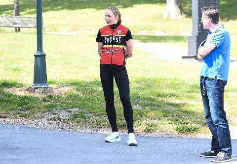 SOLID ÅPNING: Ann Helen Olsen viste at hun har gjort en god jobb i koronapausen, da hun syklet inn til en sterk femteplass på åpningsetappen av Tour de Fjells.