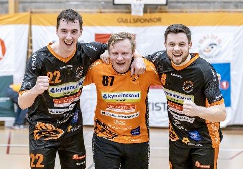 GODE: Både Hannes Nyström, Morten Nergaard og Joshua Grace bidro sterkt til HTH-seier mot Nærbø.