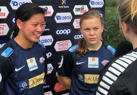 TIL AVALDSNES: Ylinn Tennebø, her sammen med Olaug Tvedten.