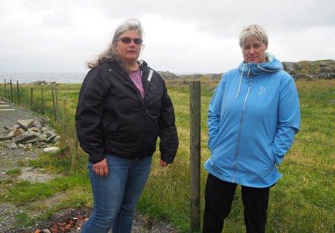 RENNES NED AV TURGÅERE: Naboene Henriette Hernehult (t.v) og Laila Akselsen får daglig besøk på eiendommene sine av folk som er på jakt etter den nye attraksjonen på Langåker.