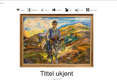 MYSTERIET OPPKLART: Det var tyske Bettina Heinen-Ayech som er maleren av dette bildet. Bildet ble malt i 1964 da Bettina var 27 år gammel.