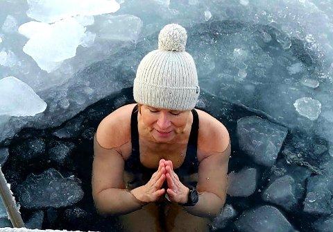 ISBADER: Bente Kristin Høgmo fra Klepp er ivrig isbader.