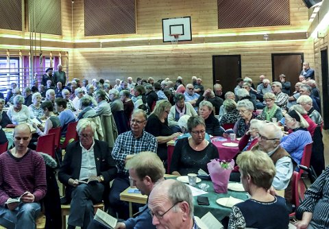 HISTORIELAG: Det store engasjementet i kommunens to historielag er med på å plassere Kragerø i toppsjiktet på Norsk kulturindeks. Bildet er fra et tidligere årsmøte i Sannidal historielag.