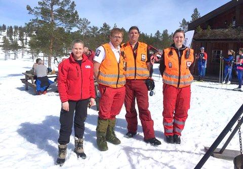 KONGSBERG-GJENGEN: Fra venstre. Lise Bakkerud, Tor Flesseberg, Arve Gjærevold og Ann Christin Barstad (korpsleder)