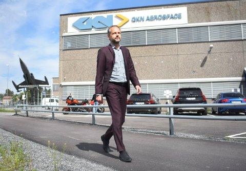 MÅ SI OPP: Administrerende direktør i GKN Aerospace, Peter Hjortsberg, kommer trolig til å si opp rundt 150 medarbeidere etter sommeren.