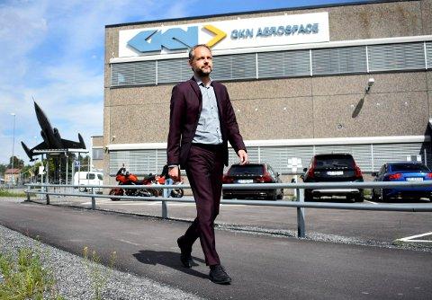 UTFODRENDE ÅR: Peter Hjortsberg, administrerende direktør i GKN Aerospace, valgte å gå ned i lønn i 2020.